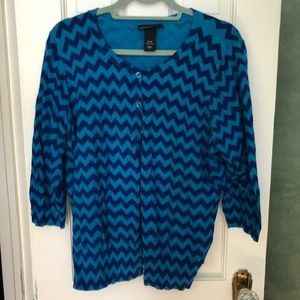 Sweet blue chevron cardigan- sz 18/20